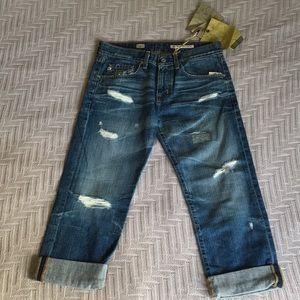 NWT Adriano Goldschmied ex-boyfriend cropped jeans